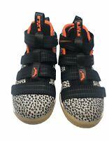 Nike Lebron Soldier XI SFG (GS) Safari Black Team Orange AJ5123-006 Size 11C