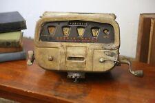 Vintage Gas pump meter Brodie gauge with hand crank handle oil truck old gas oil