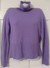Covington Periwinkle 100% Cashmere Turtleneck Sweater Sz M (10-12)