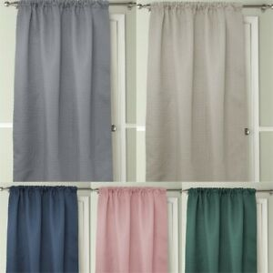 THERMAL EMBOSSED ENERGY HEAT SAVING DOOR CURTAIN 117X213cm CHOICE OF 5 COLOURS