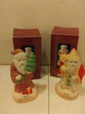 "Jamestown China Fine Porcelain 5"" International Santa Figurines lot of 2"