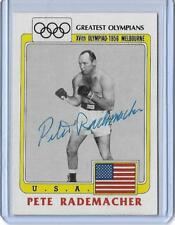 "1983 TOPPS OLYMPICS PETE RADEMACHER ""BLACK RING"" AUTOGRAPH AUTO BOXING CARD #43"