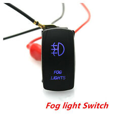 12V Car Auto Rocker Switch Backlit Fog lights Blue LED 5Pins 20A On-Off Switch
