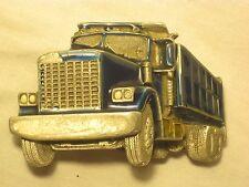 vintage Great American Buckle Co. belt buckle 237 1982 semi truck construction