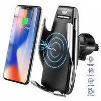 Automatic Clamping 10W Wireless Car Charger Vent Mount Holder For iPhone Android