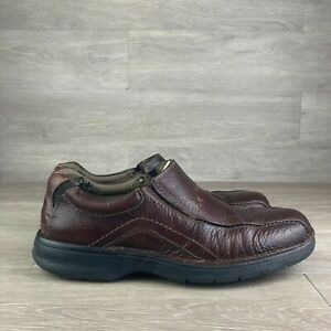 Clarks Pickett 82290 Brown Pebbled Leather Loafers Men's Casual Shoes Size 10.5M