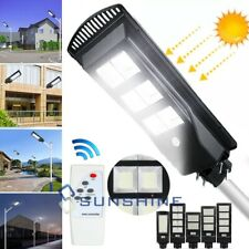 8200000LM LED Street Area Light Wall Lights Solar Dusk to Dawn Sensor Floodlight