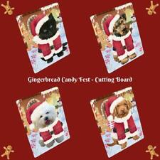 Christmas Gingerbread Candyfest Dog Cat Pet Photo Tempered Glass Cutting Board