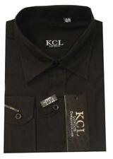 Camisas de niño de 2 a 16 años manga larga negra