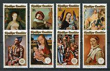 Rwanda 1974 MNH Paintings Stockholmia & Internaba 8v Set Fries Art Stamps