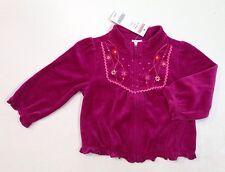 NWT Gymboree Peruvian Doll 12-18 Months Magenta Velour Flower Cardigan Jacket