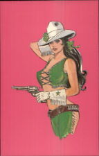 New York City Wild West Sexy Pin Up Cowgirl Postcard #2