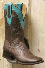 Handmade Ladies Brown Square Toe Western Boots - 2621 - Size 8.5
