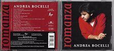 """CD 15T ANDREA BOCELLI ROMANZA feat HÉLÈNE SEGARA INCLUS """"CON TE PARTIRO"""" 1997"""