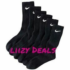 3 Pair NIKE Black ATHLETIC Socks CREW Size L - Shoe size 8-12  Men's  Women