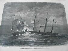 Gravure 1869 - Collision entre le Latouche-Tréville et le Prince-Pierre