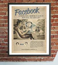 Panel Print Canvas Facebook Vintage Furniture Design 40x30 Retro Poster Home