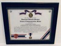 WWII / Commemorative ~ AMERICAN DEFENSE SERVICE VICTORY MEDAL CERTIFICATE