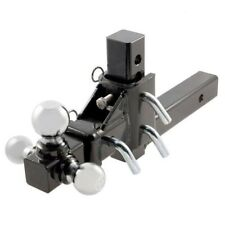"3 Way Tri Ball Adjustable Solid 2"" Receiver Triple Drop Turn Tow Hitch Mount"