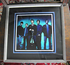 Oasis Framed Matted Photo Noel Liam Gallagher Britpop Definitely Maybe