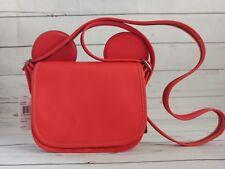 NWT Coach Disney F59369 Patricia Saddle Glove Calf Leather Mickey Ears Red