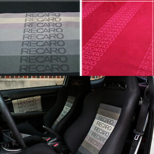 JDM RECARO Fabric for Seat Cover Door Panel Armrest Headliner Decoration Cloth