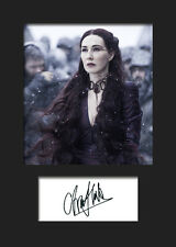 GAME OF THRONES - MELISANDRE (Carice van Houten) #2 A5 Signed Mounted Print