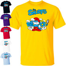 CARTOON: The Smurfs V1 TV Series animated poster 1981 T Shirt All sizes S-5XL