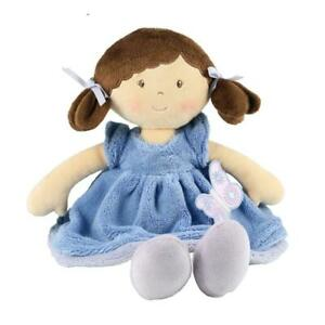 Personalised Rag Doll 38cm Butterfly Blue Baby's First Cloth Doll Gift Bonikka
