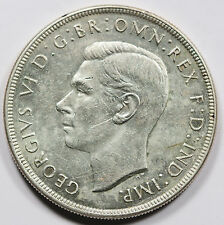 1937 Australia George VI Silver CROWN Coin Uncirculated Nice Luster