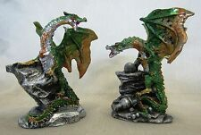 Miniature Dragons Statue Fantasy Mythical Gothic Magic Figure Ornament Set 2 -A