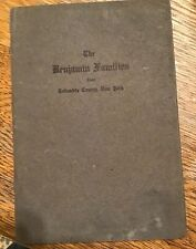 1911 Booklet - The Benjamin Families of Columbia County NY - Chatham NY area