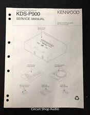Original Kenwood KDS-P900 DVD Surround Processor Service Manual
