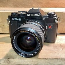 Chinon CG-5 35mm SLR Film Camera W/ Miranda Zoom Lens! Working Order! Lomo Retro