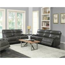 Coaster Furniture Stanford Charcoal Power Leather Sofa and Loveseat Living Room