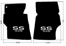 NEW! 1966 - 1967 Chevelle Floor Mats Black Carpet Embroidered SS 396 logo pair