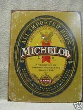 Michelob Vintage Look Bar Decor Beer Tin Metal Sign NEW Bar