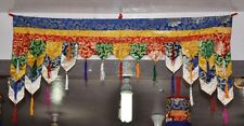 Tibetan Buddhism traditional silk brocade patch work door hanging / wall hanging