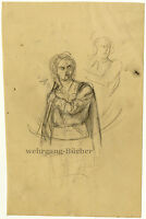Sketches, pencil drawing from ca. 1850