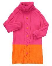 NWT Gymboree Color Happy 8 Pink Orange Turtleneck Pom Pom Sweater Dress