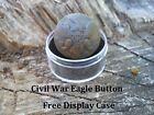 Old Rare Vintage Antique Civil War Relic Federal Eagle Button Appomattox VA Camp