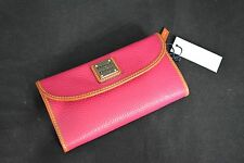 NWT! Dooney & Bourke Continental Clutch / Tri-Fold Wallet in Strawberry Pink.