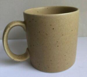 Pier One 1 Coffee Mug Pottery Flecks Specks Brown Tan Earthen Ware EUC Pristine