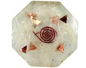 Selenite Orgone Octagon Vastu Plate Energy Generator Crystal Gemstones