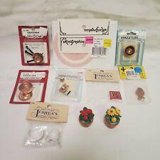 VTG Assorted Mini Miniature Dollhouse Furniture Accessories Decor Pots Pans NIB