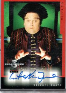 Skybox Babylon 5 Season 4 autograph card - A3 -  Stephen Furst