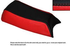Rojo Y Negro Custom encaja Puch Magnum X 50 De Cuero Funda De Asiento Solo