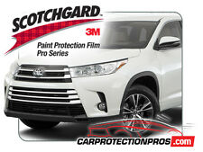 2018 Toyota Highlander 3M Scotchgard PRO Clear Bra Paint Protection Bumper Kit
