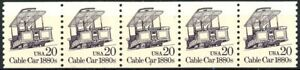 Cable Car 1880s Block Tagged Dull Gum MNH PNC5 Plate# 2 Scott's 2263 from 1988