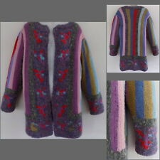 VTG Giorgio Sant Angelo sweater S Wool Mohair Multi Long Pattern Jacket 80s Coat